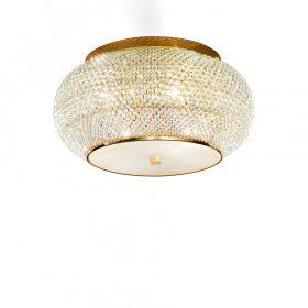 IDEAL LUX PASHA PL6 Oro kristály mennyezeti