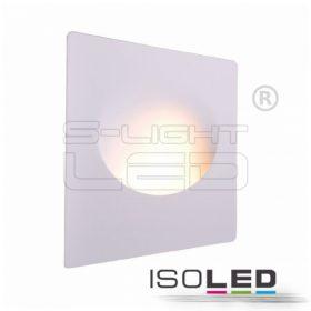 ISOLED 112166 Gipsz süllyesztett fali lámpa, GU10, nagy nyílás kerek