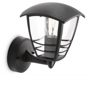 PHILIPS  Creek wall lantern black 1x60W 230V15380/30/16