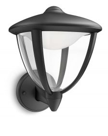 PHILIPS  Robin wall lantern black 1x4.5W 230V15470/30/16