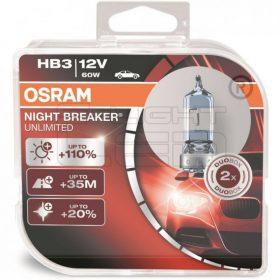 AUTOS OSRAM HB3 NIGHT BREAKER UNLIMITED 9005NBU 2db/csomag