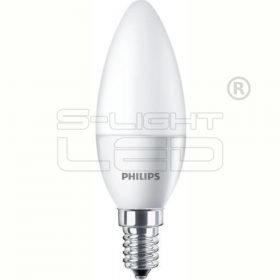 PHILIPS 4W CorePro LEDcandle ND 4-25W E14 827 B35 FR 250lm 2700K gyertya opál