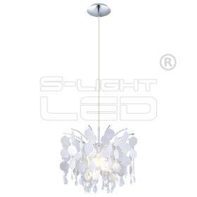 EGLO függeszték E27 1x60W feh dekor/kr 38cm Fedra