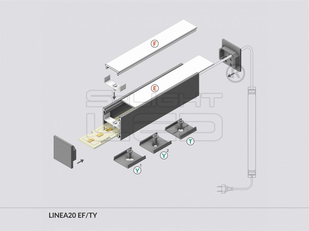 linea20 alu led profil natur alu s lightled. Black Bedroom Furniture Sets. Home Design Ideas