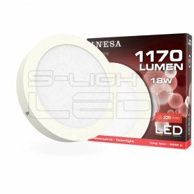 LED PANEL 18W CLR INESA 6000K FALON KÍVÜLI D=226mm 1170lumen