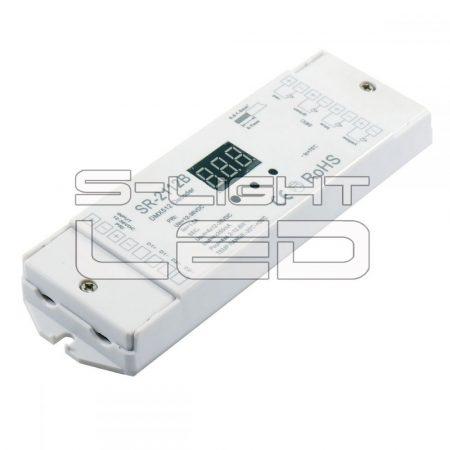 SL-2112B DMX DEKÓDER RGB+W  négy külön csatornát vagy RGB+fehér  színeket kezel 4x350mA