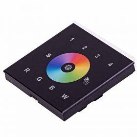 SL-2820 érintőpaneles fali RGBW LED vezérlő rádiófrekvenciás működésű fekete