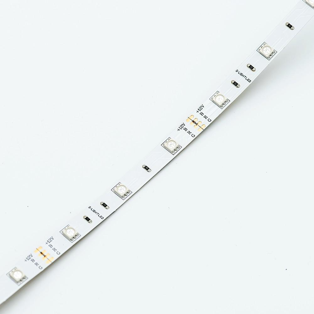 SL-RGB-5050WN-12VDC 30LED/méter IP20 beltéri színváltós LED szalag