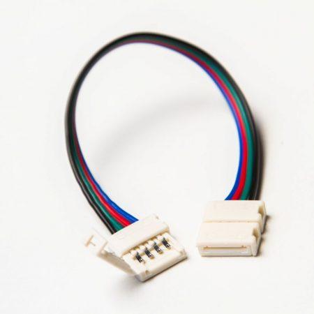 RGB LED szalaghoz toldóelem vezetékkel