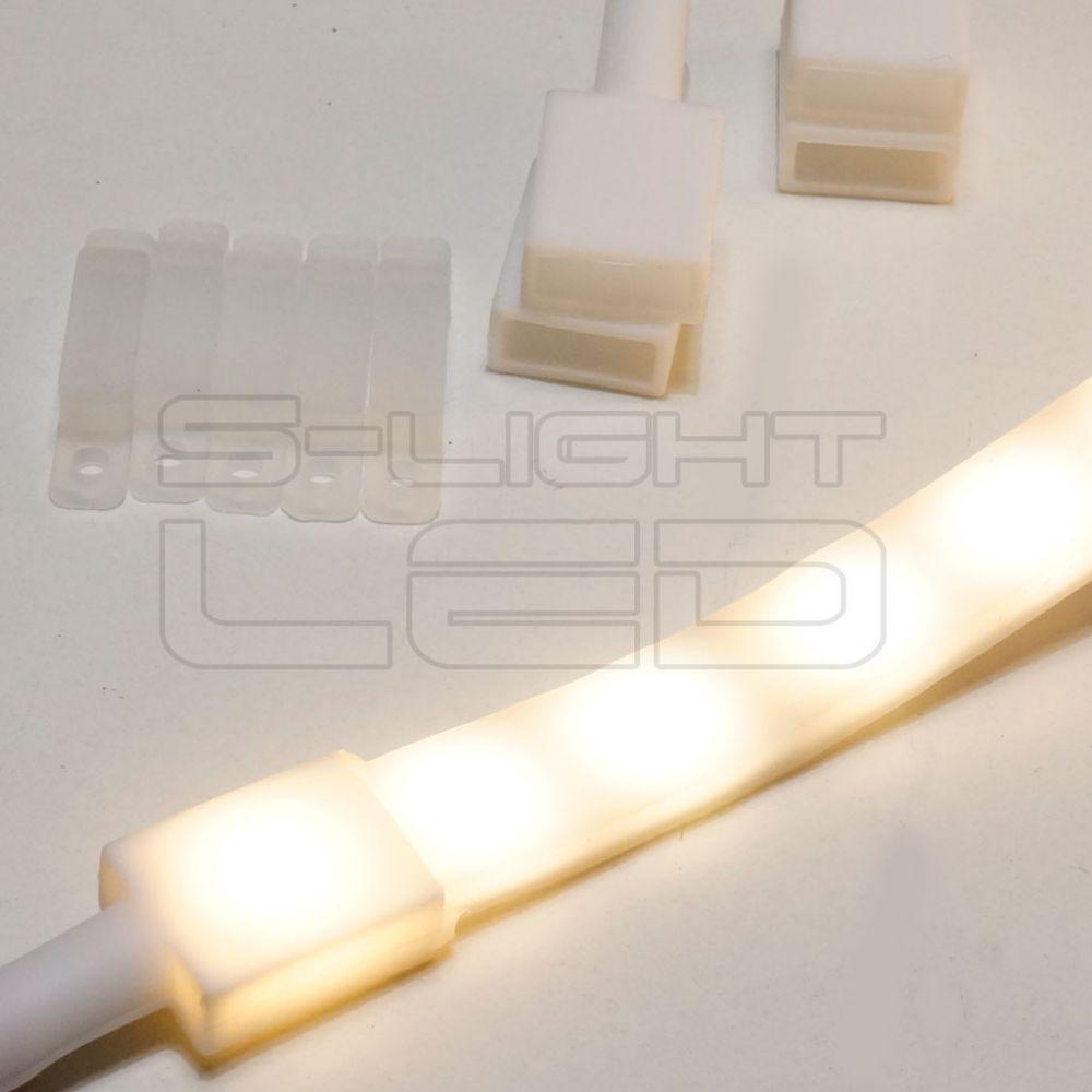 SL-5050WS-60 LED szalag vízálló  IP68 védettség 12V 3000K meleg fehér