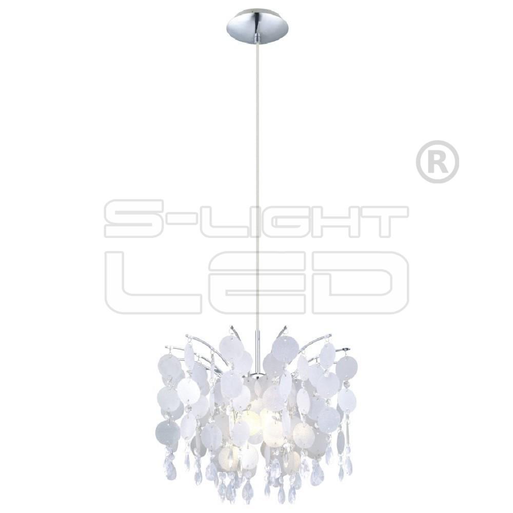 EGLO Lámpa Függ E27 1x60W feh dekor/kr 38cm Fedra