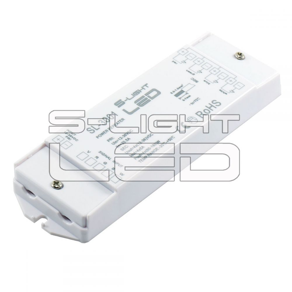 SL-3001 RGBW jelerősítő 4x5A színváltós és fehér LED szalaghoz