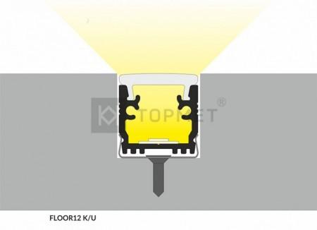 FLOOR 12 padlóba építhető LED profil