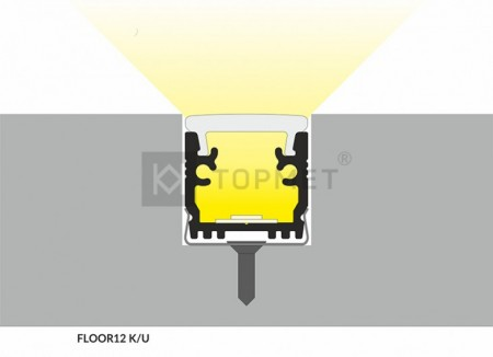 FLOOR12 padlóba építhető LED profil