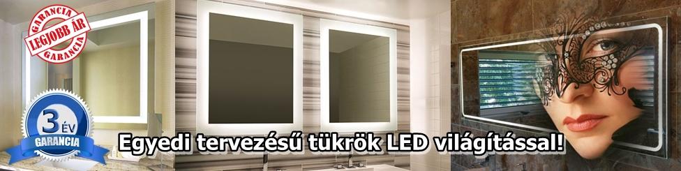 Tükör LED világítással