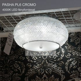 IDEAL LUX PASHA PL6 Cromo kristály mennyezeti