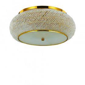 IDEAL LUX PASHA PL10 Oro kristály mennyezeti