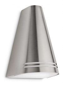 PHILIPS  Woods wall lantern inox 1x15W 230V17226/47/16