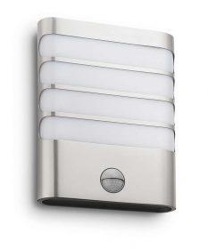Philips 172744716 Raccoon kültéri fali lámpa (rozsdamentes acél) 1x3W mozgásérzékelős