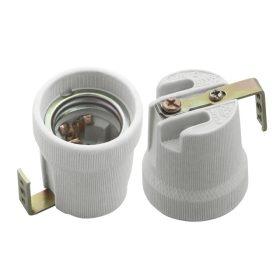 Kanlux HLDR E27-F porcelán foglalat oldalsó rögzítővel /2161/