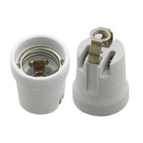 Kanlux HLDR E27-D porcelán foglalat talpas rögzítővel /2162/