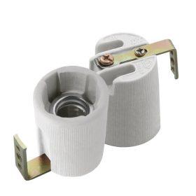 Kanlux HLDR-E14F porcelán foglalat oldalsó rögzítővel /2173/