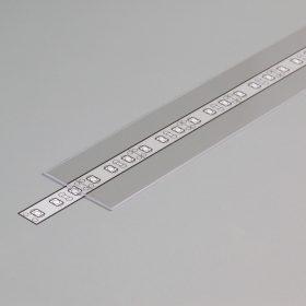 """LED profil fedél  """"H""""  FLAT8 víztiszta"""