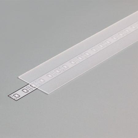 """LED profil fedél  """"H"""" FLAT OPÁL"""