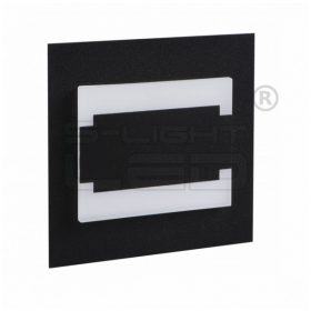 Kanlux lépcsővilágító LED lámpatest TERRA MINI LED fekete, meleg fehér 27377