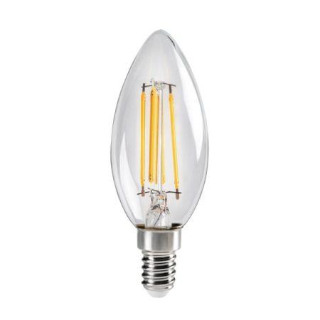 LED E14 4.5W KANLUX XLED C35 filament gyertya 2700K 29618