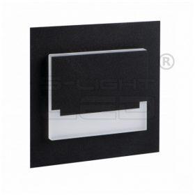 Kanlux lépcsővilágító LED lámpatest SABIK MINI LED fekete, meleg fehér 29855