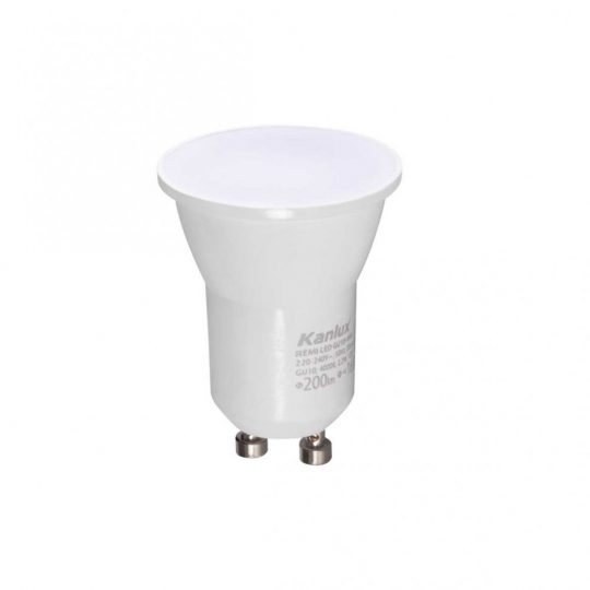 LED GU10  2.2W Kanlux Remi MR11 fejelés WW 3000K 120°  33081