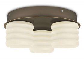 Philips-inStyle 373050616 Ortega mennyezeti lámpa (bronz) 3x4.5W