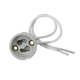 Kanlux GU10 porcelán foglalat 15cm vezetékkel/402/