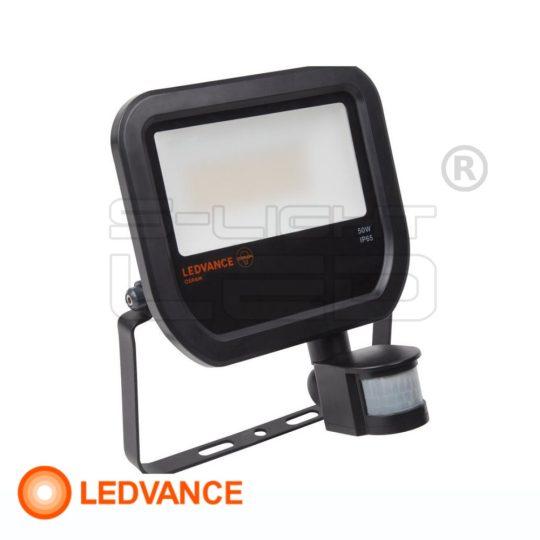 Osram LEDVANCE Floodlight LED Sensor 50W 5000lumen 3000K fekete  reflektor mozgásérzékelős