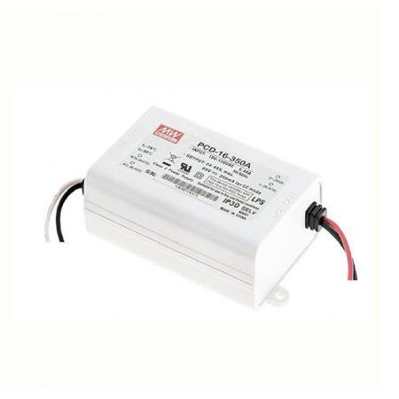 MeanWell 16W PCD-16-350 16W 24-48V/ 350mA primer oldalról dimmelhető LED tápegység