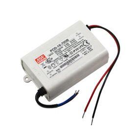 MeanWell 16W PCD-16-700B 16W 16-24V/ 700mA primer oldalról dimmelhető LED tápegység