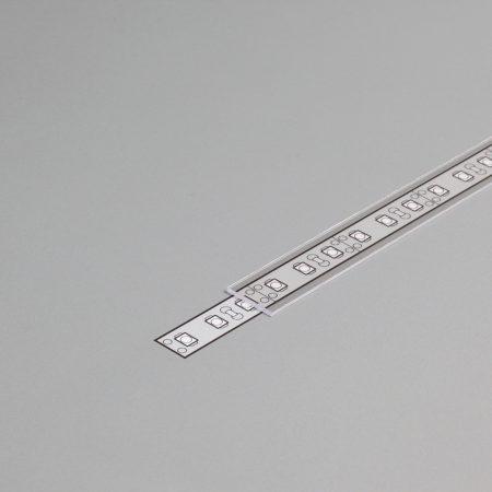 """LED profil fedél  """"J"""" víztiszta"""