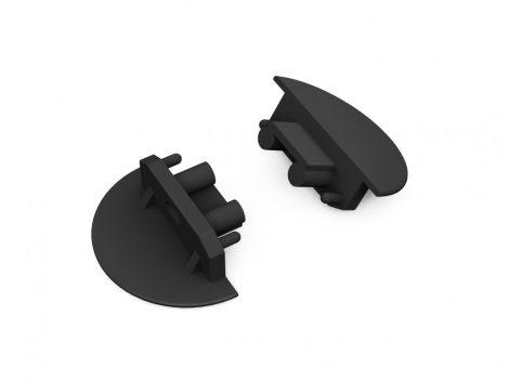 LED profil GROOVE10 végzáró fekete