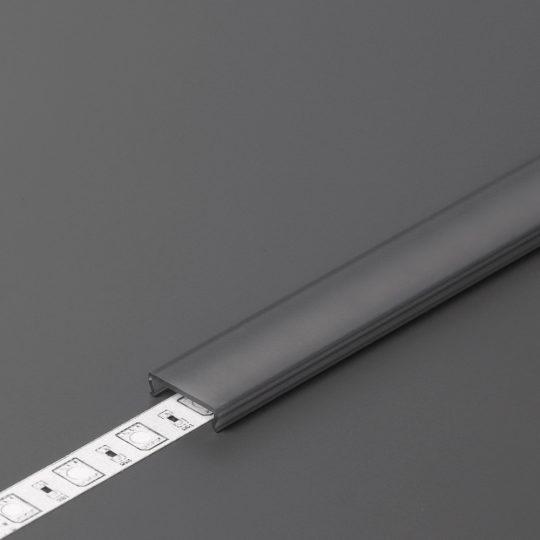 "LED profil fedél  ""C"" klikk  fekete 4000mm"