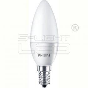 LED E14 4W PHILIPS CorePro LEDcandle ND 4-25W E14 827 B35 FR 250lm gyertya opál
