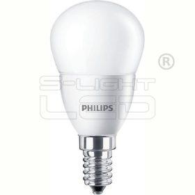 LED E14 4W PHILIPS CorePro LEDluster ND4-25W E14 827 P45 kisgömb FR opál 250lm 2700K 8718291787037