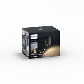 Philips Hue White Ambiance - PILLAR szimpla szpotlámpa kiegészítő (fekete)