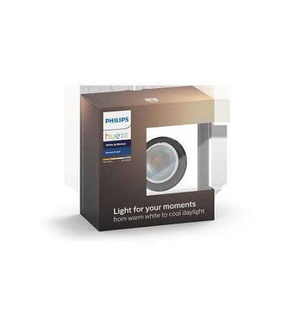 Philips Hue White Ambiance - MILLISKIN négyzet szpotlámpa kiegészítő (alu.)