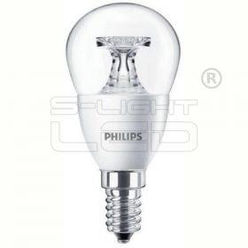 LED E14 4W PHILIPS CorePro LEDluster 4-25W E14 827 P45 CL 250lm 2700K clear kisgömb 8718696507599