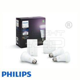 Philips Hue White and Color Ambiance készlet (3 db E27, fényerőszabályozó, bridge)