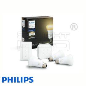Philips Hue White Ambiance készlet (3 db E27, fényerőszabályozó, bridge)