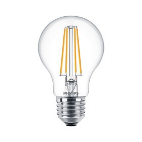LED E27  7W PHILIPS Filament Classic LEDBulb 827 A60 CL 2700K