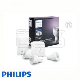 Philips Hue White and Color Ambiance készlet (3 db GU10, fényerőszabályozó, bridge)