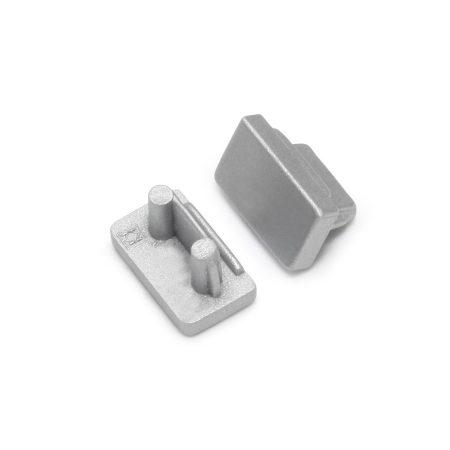 LED profil SLIM8 végzáró ezüst